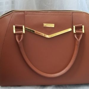 Joy & Iman Couture Leather Satchel-New W/O Tags